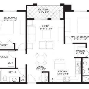 Floorplan A2 Saratoga Condominiums Saskatoon