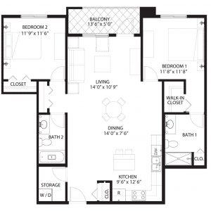 Floorplan A3 Saratoga Condominiums Saskatoon