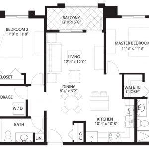 Floorplan B1 Saratoga Condominiums Saskatoon