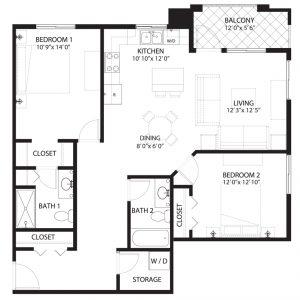Floorplan C1 Saratoga Condominiums Saskatoon