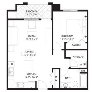 Floorplan D1X Saratoga Condominiums Saskatoon