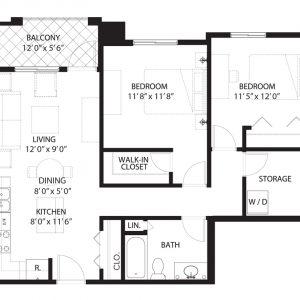Floorplan D2 Saratoga Condominiums Saskatoon