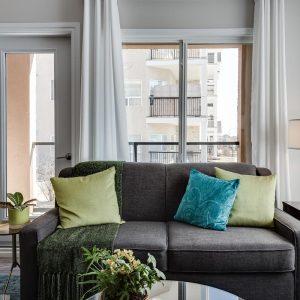 apartment style condo with balcony