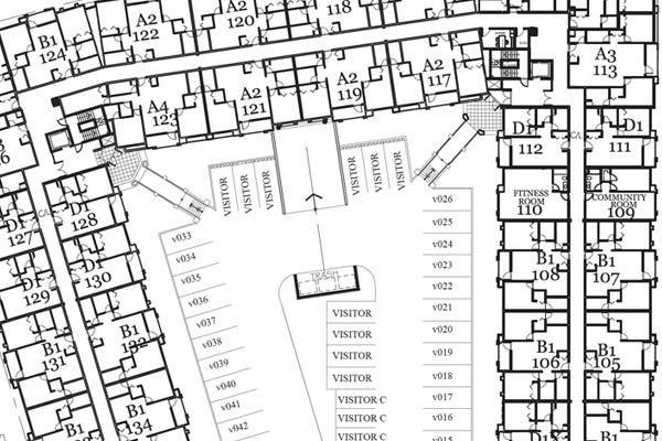condo building floorplan