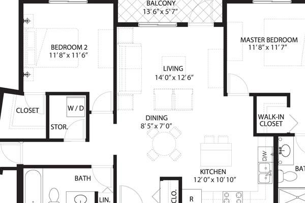 condo suite layouts
