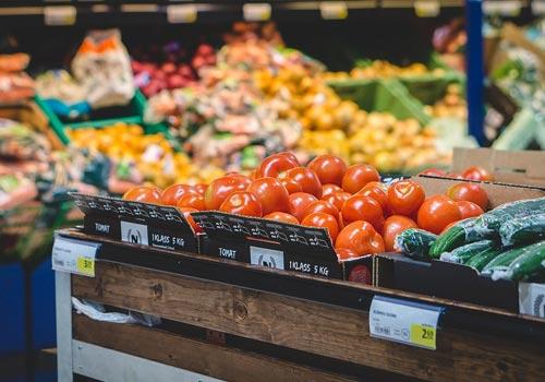 vegetables in Lakewood supermarket